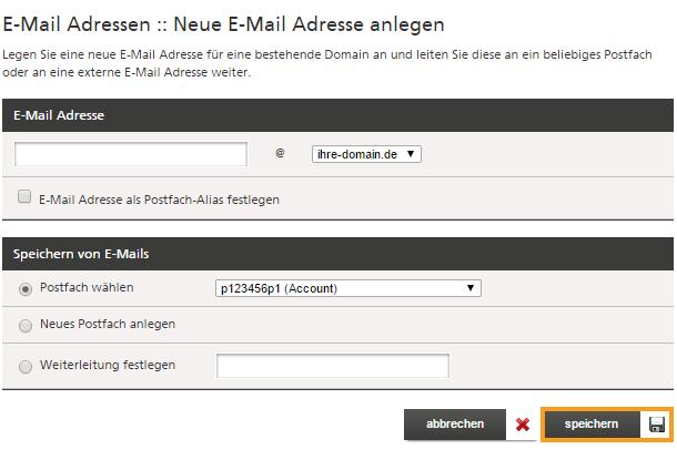 Wie ich lege ich eine E-Mail-Adresse an Mittwald